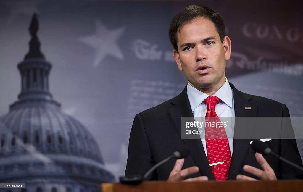 Sen. <a gi-track='captionPersonalityLinkClicked' href=/galleries/search?phrase=Marco+Rubio+-+Politician&family=editorial&specificpeople=11395287 ng-click='$event.stopPropagation()'>Marco Rubio</a>, R-Fla., speaks during the news conference on Ukraine on Wednesday, April 30, 2014.