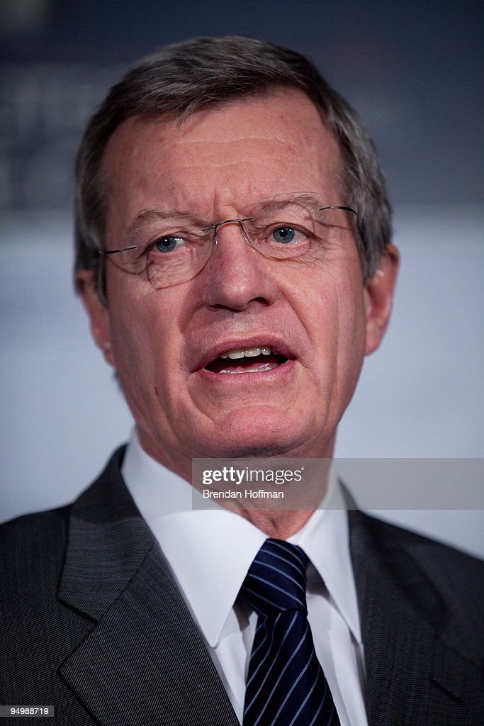 Sen. <a gi-track='captionPersonalityLinkClicked' href=/galleries/search?phrase=Max+Baucus&family=editorial&specificpeople=242972 ng-click='$event.stopPropagation()'>Max Baucus</a> (D-MT) speaks at a news conference on health insurance reform legislation on December 21, 2009 in Washington, DC. The American Medical Association came out today in support of the bill.