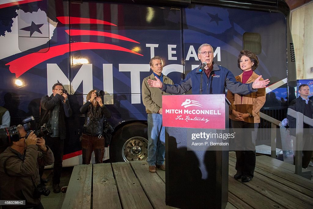 Mitch McConnell Campaigns Across Kentucky 1 Day Before Midterm Election