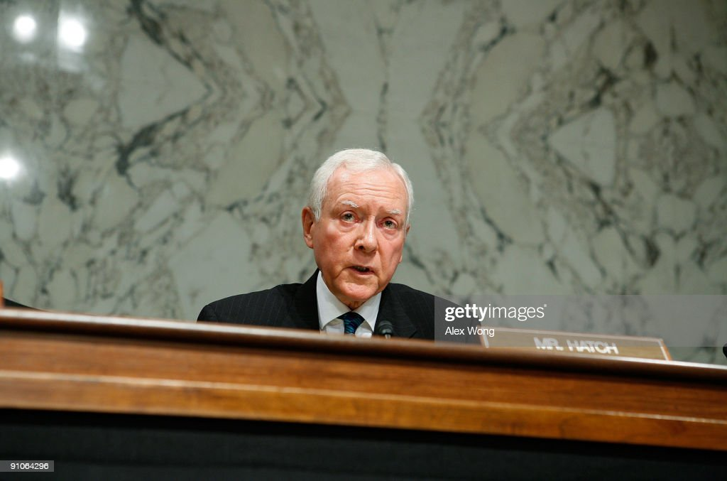 U.S. Sen. Orrin Hatch (R-UT) speaks during a mark up hearing before the Senate Finance Committee on Capitol Hill September 23, 2009 in Washington, DC. Members of the committee continued to work on their version of the legislation for healthcare reform.