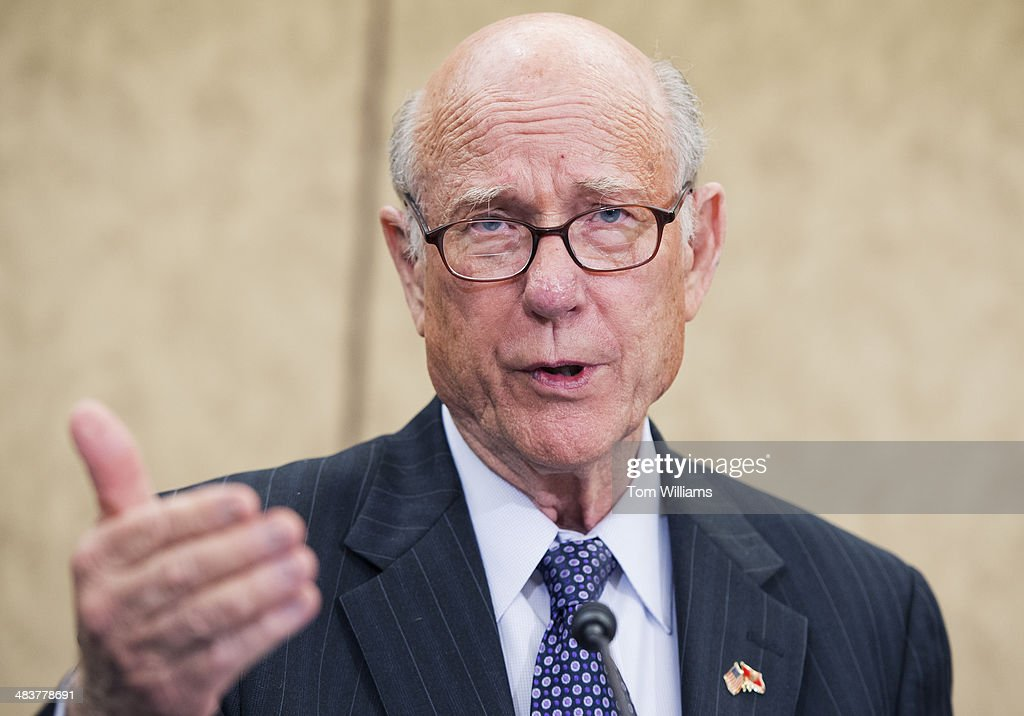 Sen. Pat Roberts, R-Kan., speaks at an event on taxes hosted by Grover Norquist, president of Americans for Tax Reform, in the Capitol Visitor Center, ahead of the April 15th deadline for filing.