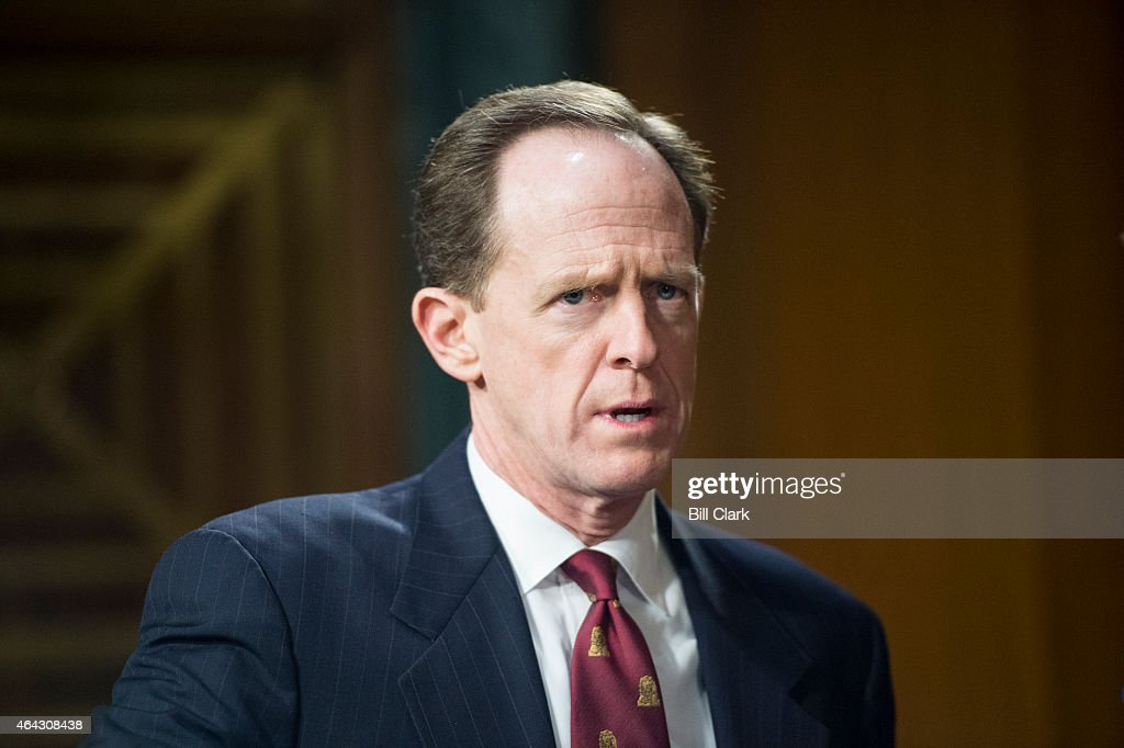Sen. <a gi-track='captionPersonalityLinkClicked' href=/galleries/search?phrase=Pat+Toomey&family=editorial&specificpeople=3370648 ng-click='$event.stopPropagation()'>Pat Toomey</a>, R-Pa., arrives for the Senate Banking, Housing and Urban Affairs Committee hearing on 'The Semiannual Monetary Policy Report to the Congress' on Tuesday, Feb. 24, 2015.