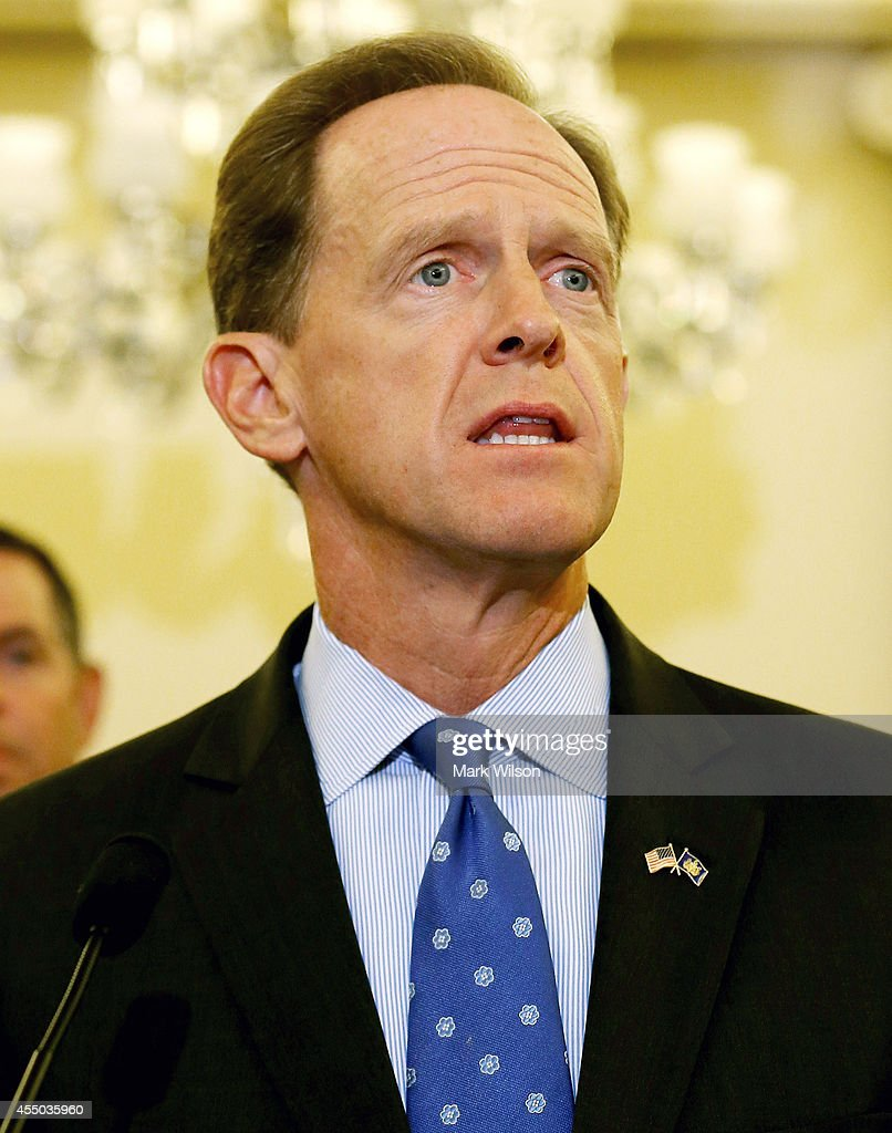 Sen. <a gi-track='captionPersonalityLinkClicked' href=/galleries/search?phrase=Pat+Toomey&family=editorial&specificpeople=3370648 ng-click='$event.stopPropagation()'>Pat Toomey</a> (R-PA) speaks about protecting students from sexual predators during a news conference on Capitol Hill, September 9, 2014 in Washington, DC. Sen Toomey and other members of Congress called on the U.S. Senate to pass H.R.2083, the Protecting Students from Sexual and Violent Predators Act of 2013.