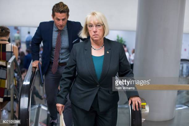 Sen Patty Murray DWash makes her way to the Senate Policy luncheon in the Capitol on June 27 2017