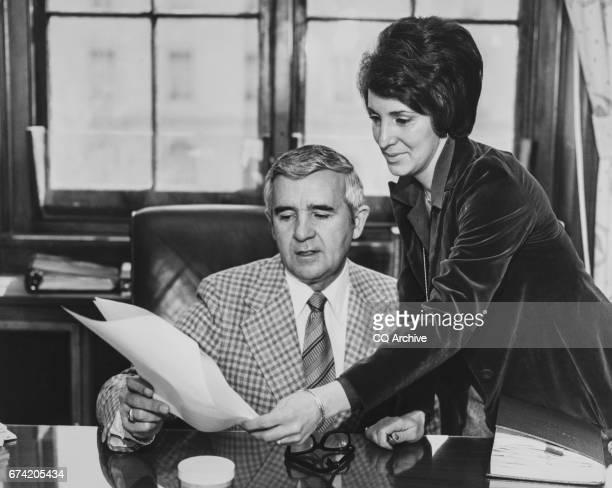 Sen Paul Laxalt RNev and wife Carol Laxalt in his office