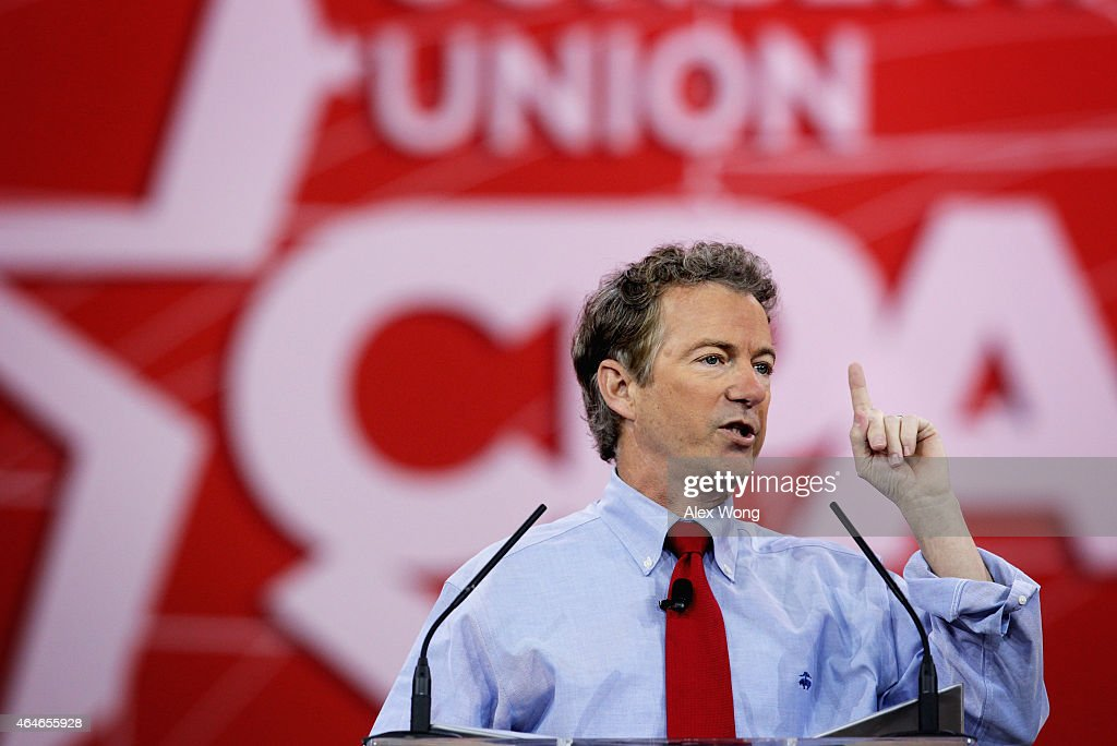 S Sen Rand Paul addresses the 42nd annual Conservative Political Action Conference February 27 2015 in National Harbor Maryland Conservative...