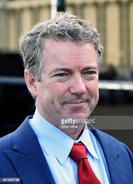 S Sen Rand Paul poses for a photo outside the Peppermill Restaurant Fireside Lounge on January 16 2015 in Las Vegas Nevada Paul is heavily speculated...