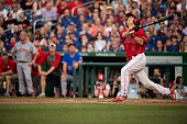 Sen Rand Paul RKy pops up during the 54th Annual Roll Call Congressional Baseball Game at Nationals Park in Washington on Thursday June 11 2015 The...
