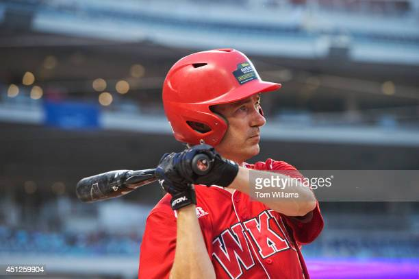 Sen Rand Paul RKy takes practice swings during the 53rd Congressional Baseball Game in Nationals Park June 25 2014 The Democrats prevailed over the...