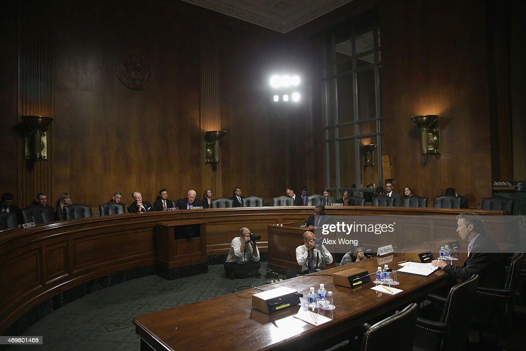 Sen rand paul r ky testifies during a hearing before the senate