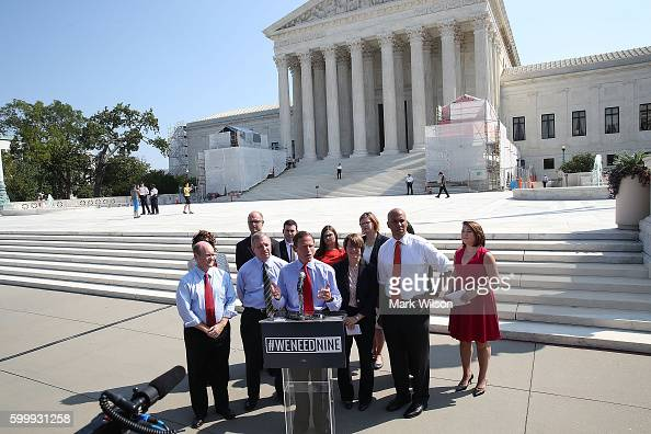 Sen Richard Blumenthal calls for Senate Judiciary conformation hearings for Supreme Court nominee Merrick Garland during a news conference news...