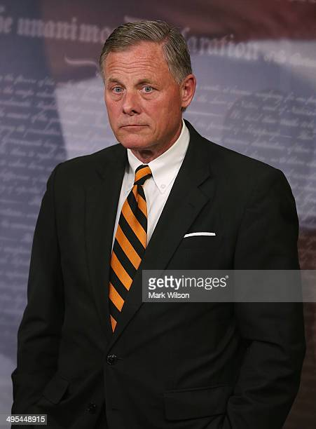 Sen Richard Burr participates in a news conference about veterans affairs on Capitol Hill June 3 2014 in Washington DC Four Senators introduced The...