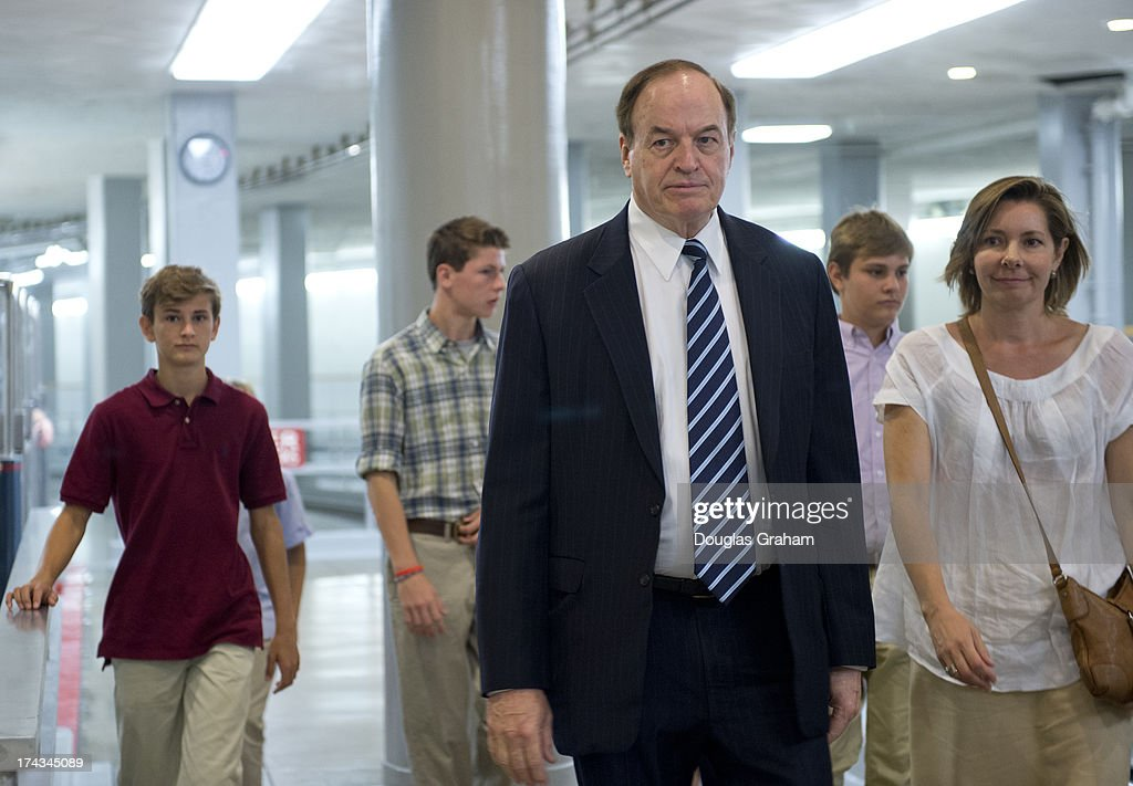 Sen. Richard Shelby, R-Al., makes his way to the U.S. Capitol via the Senate subway on July 24, 2013.