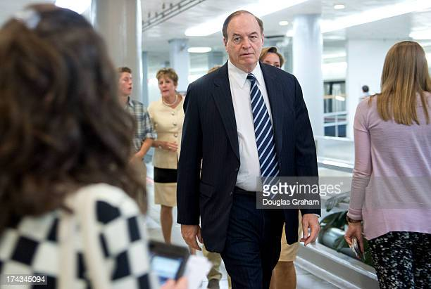 Sen Richard Shelby RAl makes his way to the US Capitol via the Senate subway on July 24 2013
