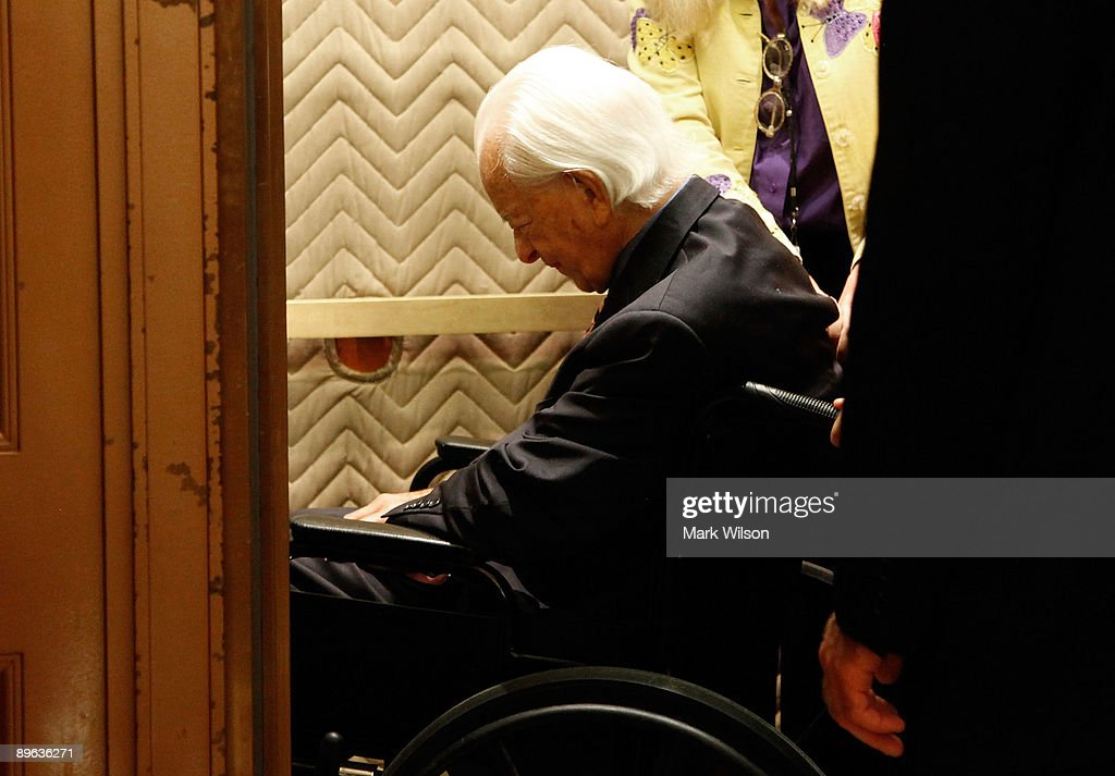 Sen. Robert C. Byrd (D-WV) sits in a wheelchair as he takes an elevator to the Senate floor to vote on judge Sonia Sotomayor, on Capitol Hill August 6, 2009 in Washington, DC. The Senate passed confirmed the nomination of judge Sonia Sotomayor making her the next Supreme Court Justice.