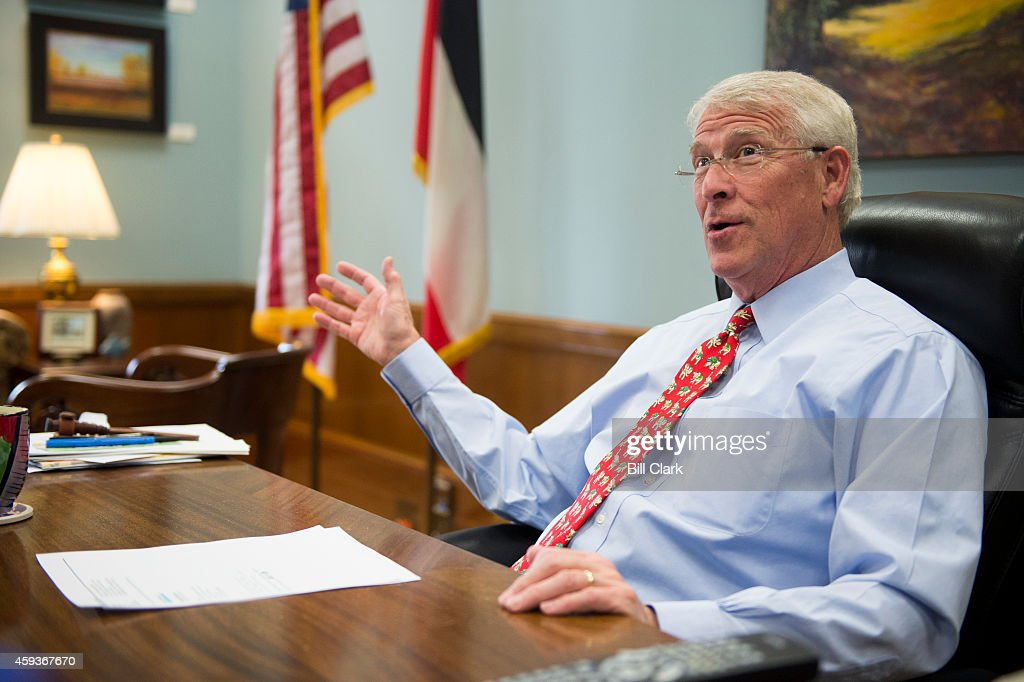 Sen Roger Wicker RMiss speaks to Roll Call in his office in the Dirksen Senate Office Building on Nov 19 2014