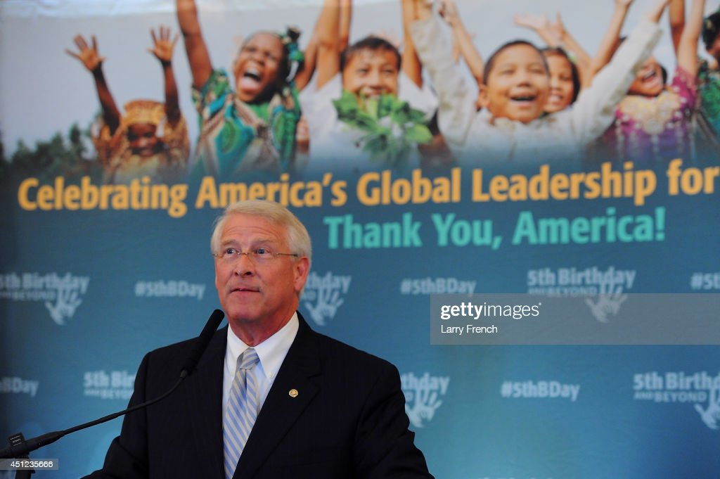 Sen. <a gi-track='captionPersonalityLinkClicked' href=/galleries/search?phrase=Roger+Wicker&family=editorial&specificpeople=1194753 ng-click='$event.stopPropagation()'>Roger Wicker</a> (R-MS) speaks at the 5th Birthday And Beyond event at the Russell Senate Office Building on June 25, 2014 in Washington, DC.