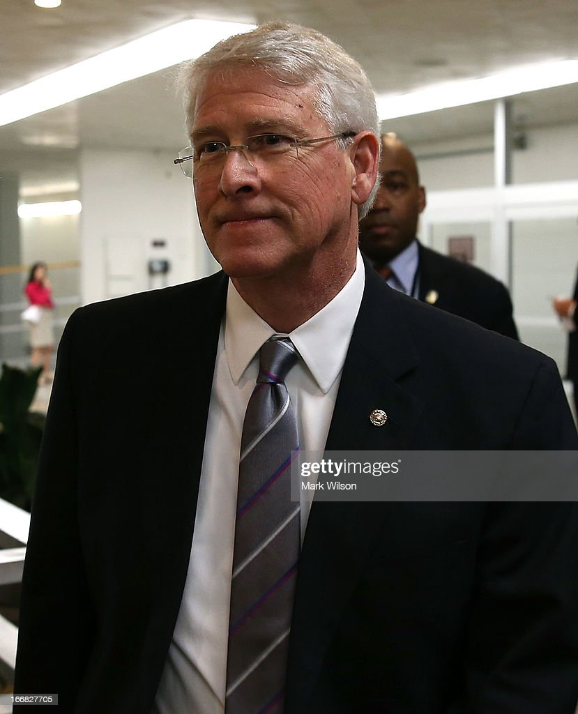 Sen. Roger Wicker (R-MS), walks to vote on the Senate floor April 17, 2013 on Capitol Hill in Washington, DC. The Senate rejected a proposal by Sens. Joe Manchin (D-WV) and Pat Toomey (R-PA) to expand background checks on firearms purchases and to close the so-called gun-show loophole.