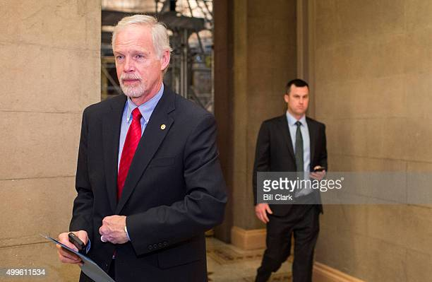 Sen Ron Johnson leaves the Senate Republicans' lunch in the Capitol on Wednesday Dec 2 2015