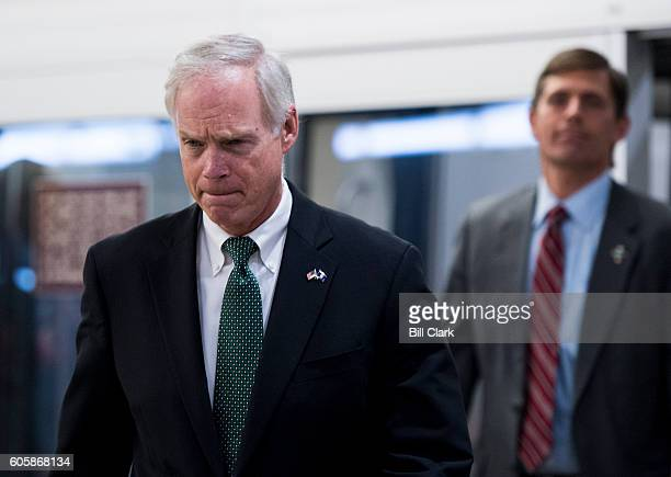 Sen Ron Johnson RWisc arrives in the Capitol for a vote on Thursday September 15 2016