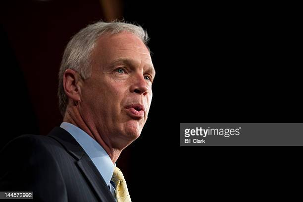 Sen Ron Johnson RWisc participates in a news conference in the Capitol with other Senate Republicans to discuss the budget on Wednesday May 16 2012