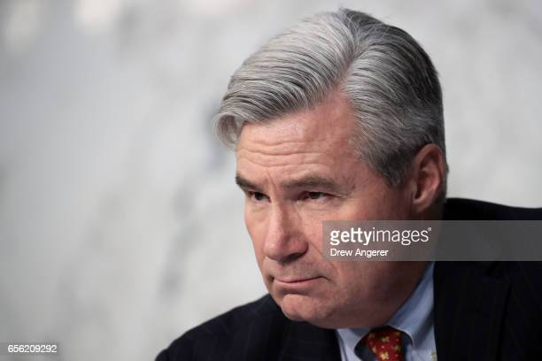 S Sen Sheldon Whitehouse listens as Judge Neil Gorsuch testifies during the second day of his Supreme Court confirmation hearing before the Senate...