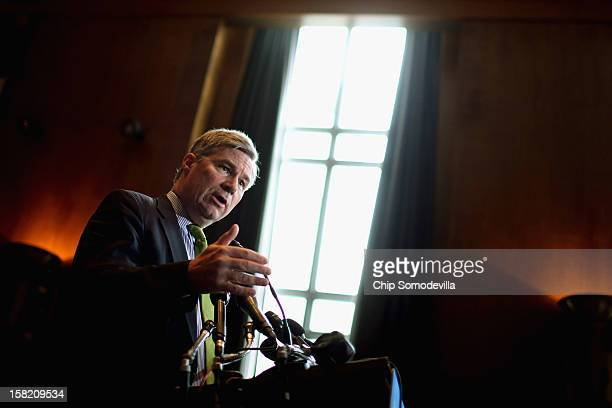 Sen Sheldon Whitehouse speaks during a news conference about preserving Medicaid funding during the 'fiscal cliff' negotiations at the Dirksen Senate...