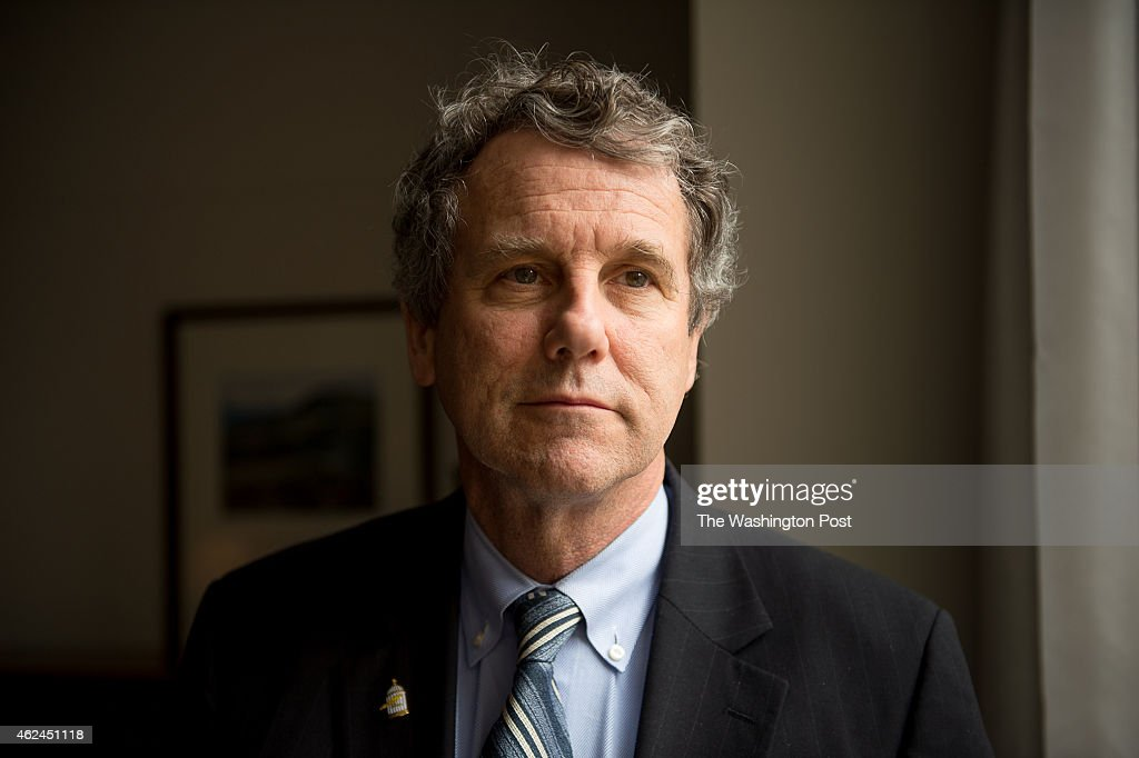 Sen. <a gi-track='captionPersonalityLinkClicked' href=/galleries/search?phrase=Sherrod+Brown&family=editorial&specificpeople=3986311 ng-click='$event.stopPropagation()'>Sherrod Brown</a> (D-Ohio) poses for a portrait in his offices on Capitol Hill on January 27, 2015 in Washington, DC.