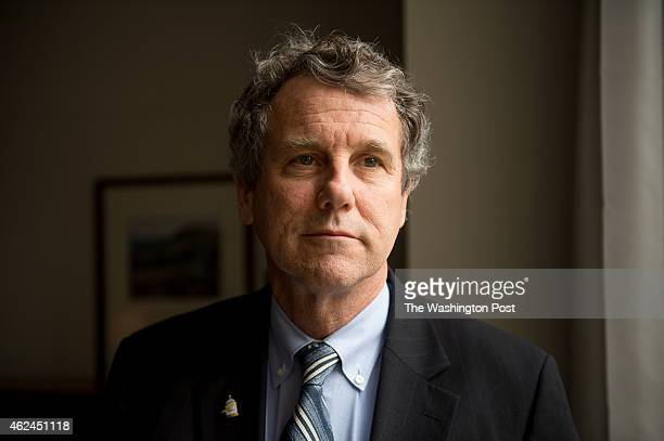 Sen Sherrod Brown poses for a portrait in his offices on Capitol Hill on January 27 2015 in Washington DC
