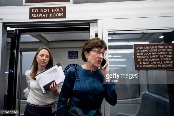 Sen Susan Collins RMaine arrives in the Capitol on Tuesday Nov 14 2017