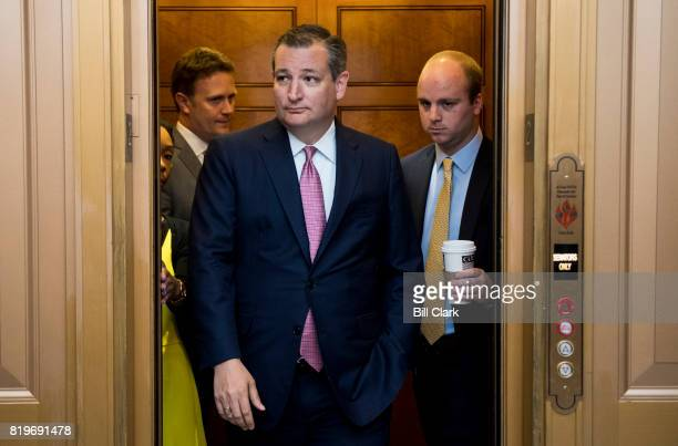Sen Ted Cruz RTexas arrives for a vote in the Capitol on Thursday July 20 2017