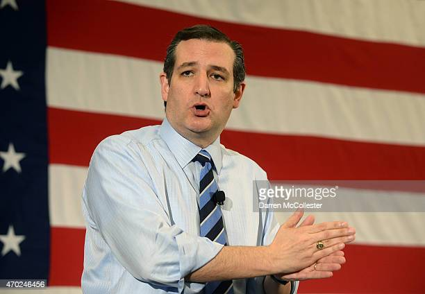 S Sen Ted Cruz speaks at the First in the Nation Republican Leadership Summit April 18 2015 in Nashua New Hampshire The Summit brought together local...