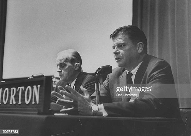 Sen Thruston B Morton during debate with Paul M Butler