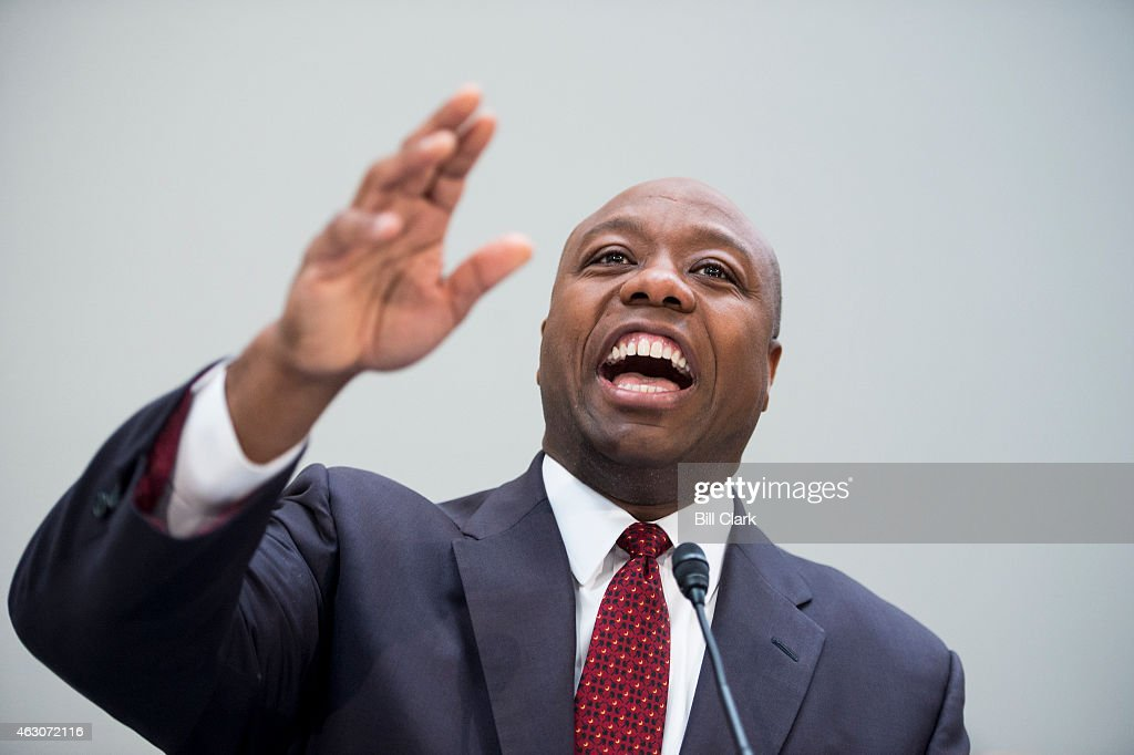 Sen. <a gi-track='captionPersonalityLinkClicked' href=/galleries/search?phrase=Tim+Scott+-+Homme+politique&family=editorial&specificpeople=12898323 ng-click='$event.stopPropagation()'>Tim Scott</a>, R-S.C., holds his National School Choice Forum on 'Choosing Excellence: A Forum on the Freedom to Choose Academic Excellence for Every Child' in the Hart Senate Office BUilding on Monday, Feb. 9, 2015