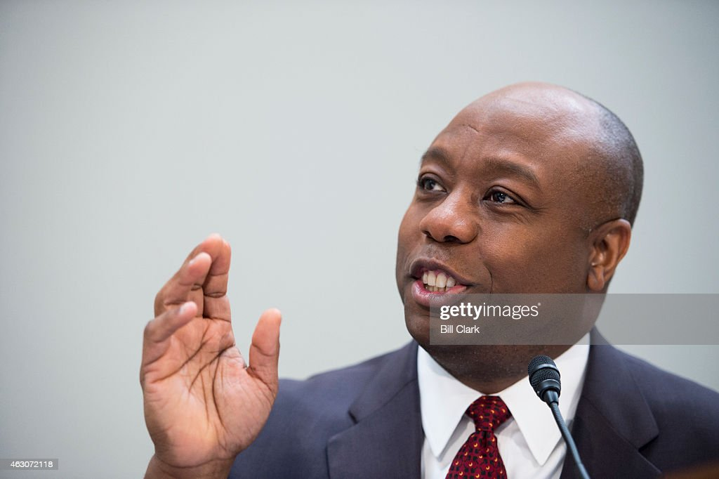 Sen. <a gi-track='captionPersonalityLinkClicked' href=/galleries/search?phrase=Tim+Scott+-+Politician&family=editorial&specificpeople=12898323 ng-click='$event.stopPropagation()'>Tim Scott</a>, R-S.C., holds his National School Choice Forum on 'Choosing Excellence: A Forum on the Freedom to Choose Academic Excellence for Every Child' in the Hart Senate Office BUilding on Monday, Feb. 9, 2015