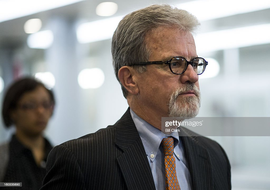 Sen. Tom Coburn, R-Okla., arrives in the Capitol for the Senate policy lunches on Tuesday, Jan. 29, 2013.