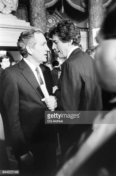 Sen Tom Harkin DIowa talking with Rep Bob Carr DMich after State of Union address on January 25 1994 'n