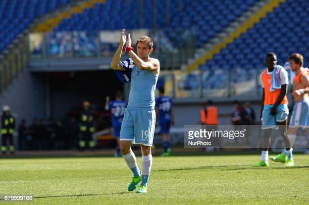 Senad Lulic during the Italian Serie A football match between SS Lazio and US Sampdoria at the Olympic Stadium in Rome on may 7 2017