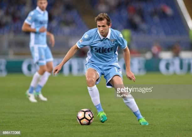Senad Lulic during the Italian Serie A football match between SS Lazio and FC Inter at the Olympic Stadium in Rome on may 21 2017