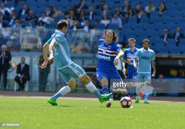 Senad Lulic Edgar Barreto during the Italian Serie A football match between SS Lazio and US Sampdoria at the Olympic Stadium in Rome on may 7 2017