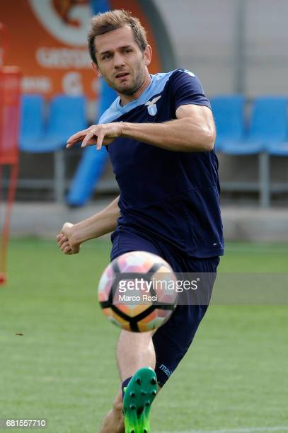 Senad Lulic of SS Lazio during the SS Lazio training session at the Formello Center in Rome on May 10 2017 in Rome Italy