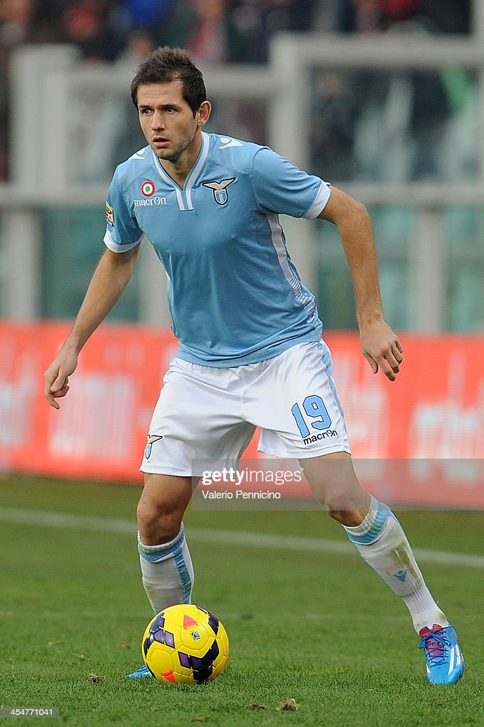 Senad Lulic of SS Lazio in action during the Serie A match between Torino FC and SS Lazio at Stadio Olimpico di Torino on December 8, 2013 in Turin, Italy.