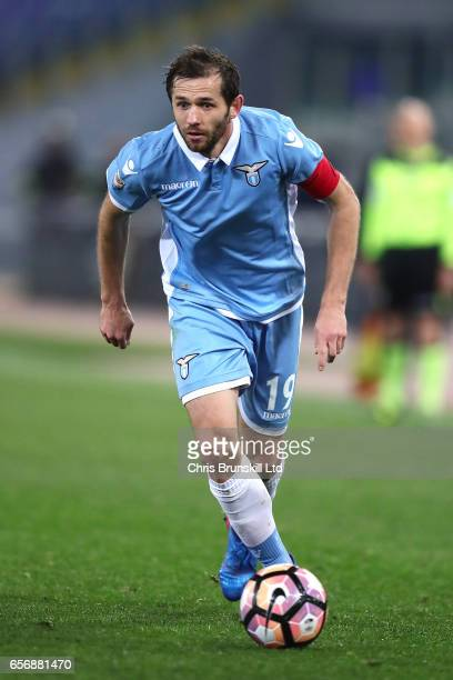 Senad Lulic of SS Lazio in action during the Serie A match between SS Lazio and FC Torino at Stadio Olimpico on March 13 2017 in Rome Italy