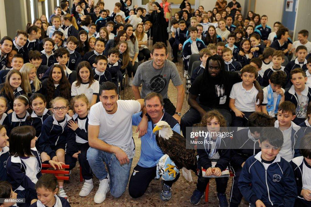 SS Lazio Players Meet School Students