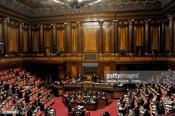 Senat Assembly To Vote The Confidence To The Government on December 14 2016 in Rome Italy