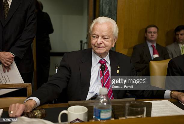 Senate Appropriations Chairman Robert C Byrd DWVa before the hearing with White House budget director Jim Nussle on the administration's $1081...