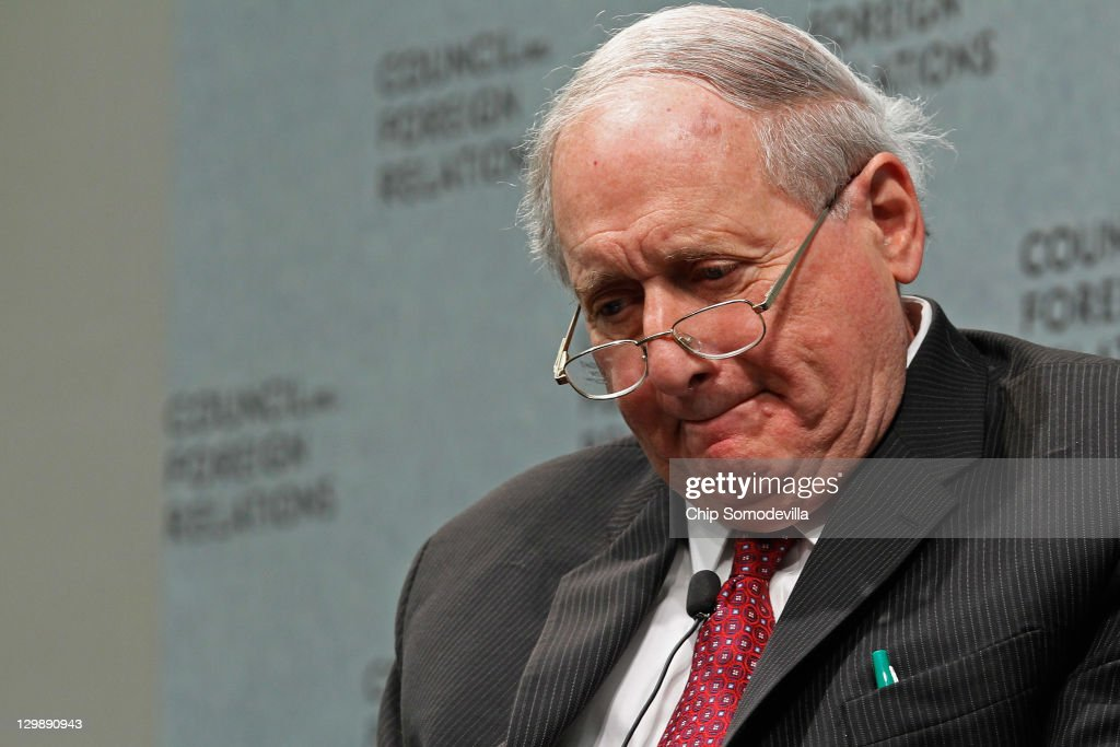 Senate Armed Services Committee Chairman <a gi-track='captionPersonalityLinkClicked' href=/galleries/search?phrase=Carl+Levin&family=editorial&specificpeople=208878 ng-click='$event.stopPropagation()'>Carl Levin</a> (D-MI) takes questions during a program at the Council on Foreign Relations October 21, 2011 in Washington, DC. Levin spoke about the challenges facing U.S. armed forces in Afghanistan and said that the Pakistan-based Haqqani Network, with the material support of the Pakistan's powerful intelligence agency, posed a direct threat to ISAF forces.