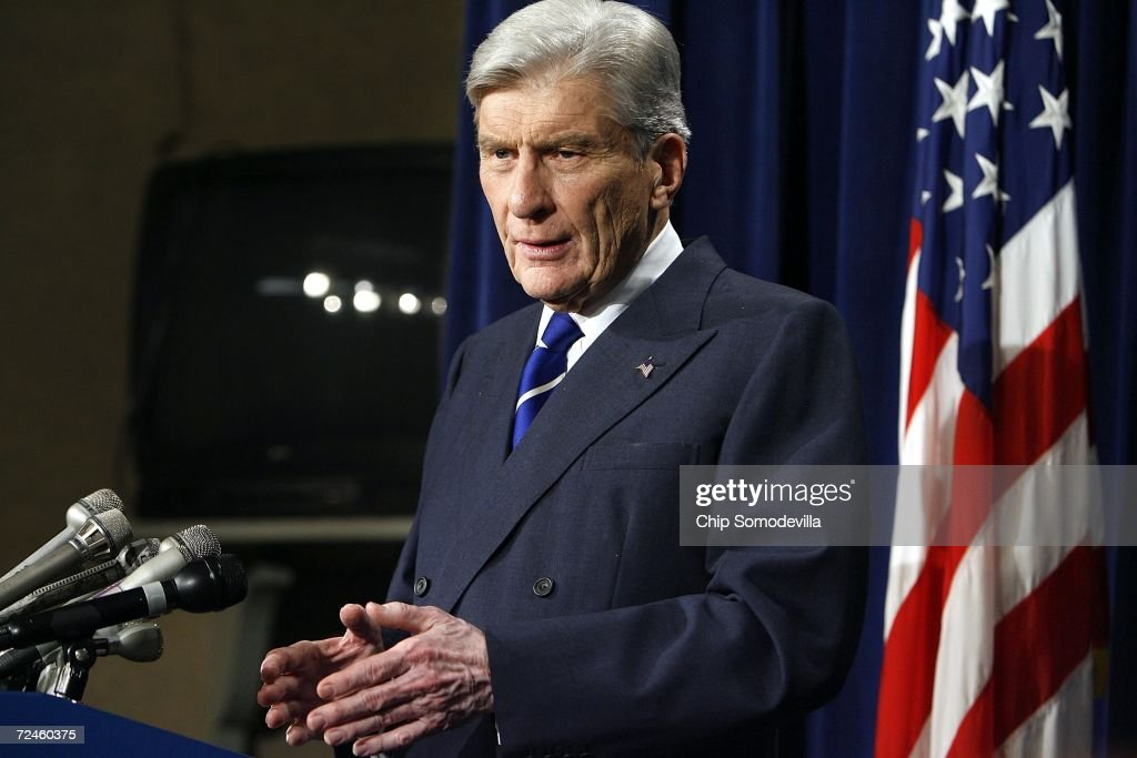 US Senate Armed Services Committee Chairman John Warner (R-VA) remarks on the resignation of Defense Secretary Donald Rumsfeld at the US Capitol November 8, 2006 in Washington, DC. Warner said he supports President George W. Bush's nomination of former CIA Director Robert Gates for Secretary of Defense. Warner said he anticipates Gates' confirmation before the end of the year.