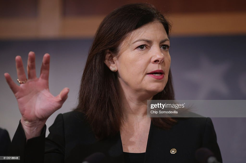 Senate Armed Services Committee member Sen. <a gi-track='captionPersonalityLinkClicked' href=/galleries/search?phrase=Kelly+Ayotte&family=editorial&specificpeople=6986995 ng-click='$event.stopPropagation()'>Kelly Ayotte</a> (R-NH) speaks at a news conference at the U.S. Capitol February 24, 2016 in Washington, DC. The Republican Senators held the conference to speak about President Obama's plan to close the military prison at Guantanamo Bay, Cuba. They called the president's plan 'jibberish,' and said they have tried working with Obama to close the detention camp and move the terrorism suspects held there to federal prisons in the United States but this latest proposal is not the way forward.
