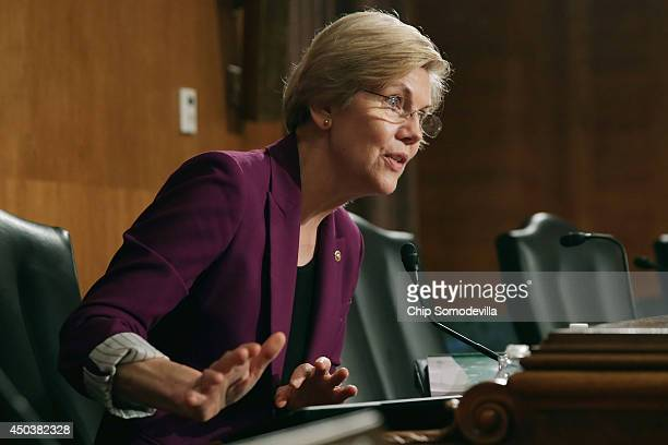 Senate Banking Housing and Urban Affairs Committee member Sen Elizabeth Warren questions Consumer Financial Protection Bureau Director Richard...